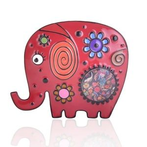 Jewelry - NEW! Hard Metal Cute Elephant Enamel Pin Brooch